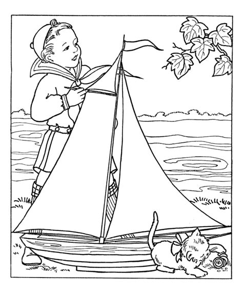 coloring book sles boy with large model sale boat coloring pages