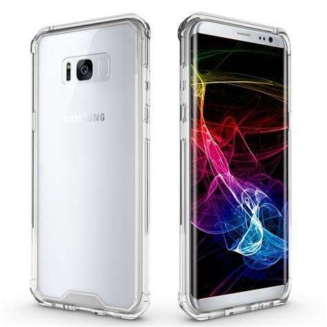 Samsung Galaxy S8 Hybrid Armor Soft Bumper Back Cl Berkualitas hybrid fusion frame bumper samsung galaxy s8 clear