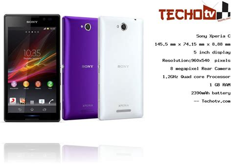 sony xperia c phone full specifications price in india
