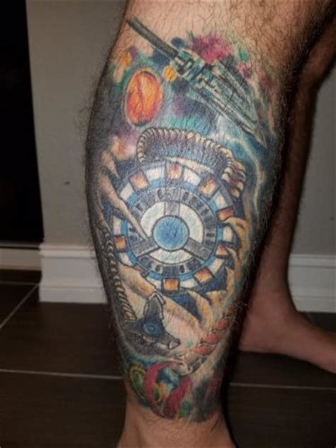 arc reactor tattoo this sleeve is signed by stan nerdist