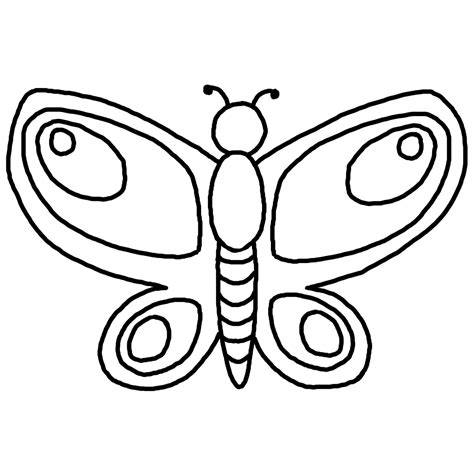 Drawing Outline by Outline Drawing Of Butterfly Clipart Best