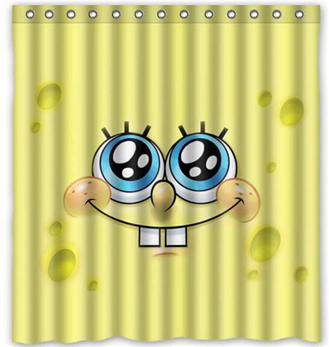 shower curtain free shipping free shipping famous smile yellow spongebob custom shower