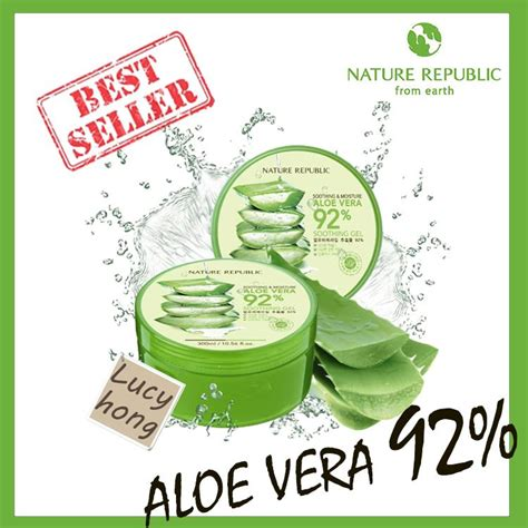 Harga Nature Republic Aloe Vera Gel Di Gancit nature republic aloe vera 92 soothing gel 300 ml daftar