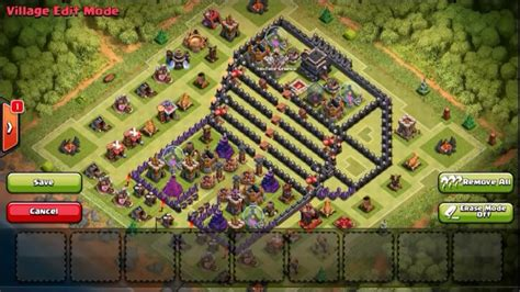 Layout Base Coc Unik | coc base th 9 unik dan menarik youtube