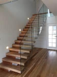 Steel Handrails Sydney Open Riser Staircase With Frameless Glass Railings