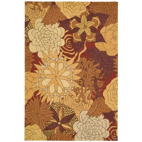 overstock indoor outdoor rug nourison overstock south spice 10 ft x 13 ft indoor outdoor area rug 172549 the home depot