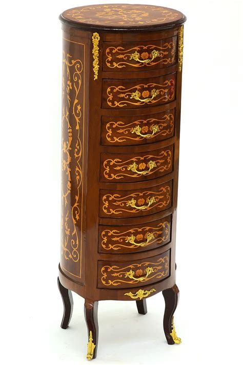 Commode Ronde by Semainier Commode Ronde Style Louis Xv En Marqueterie
