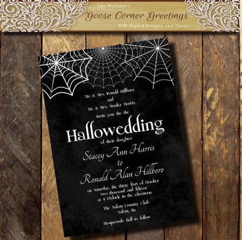 printable halloween wedding invitation from