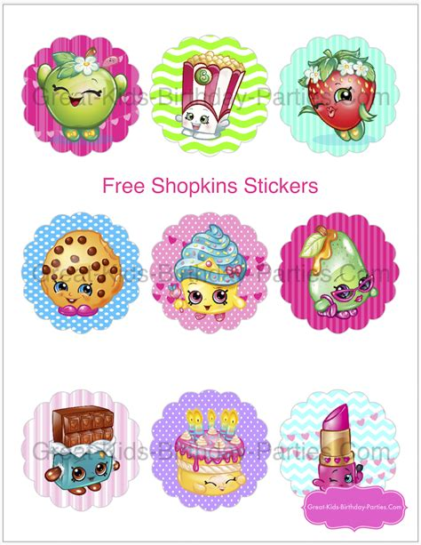 printable shopkins stickers shopkins birthday party