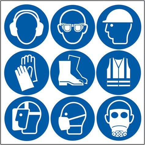 Blue Wall Stickers self adhesive safety stickers ppe symbols safetyshop