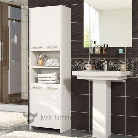 Modern Bathroom Storage by Modern White Bathroom Storage 4 Doors Cabinet