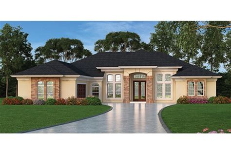 mediteranean house plans home plan homepw76954 2635 square foot 3 bedroom 3