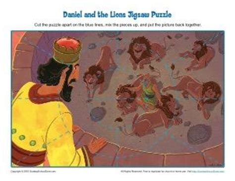 free printable bible jigsaw puzzles daniel and the lions den jigsaw puzzle bible story
