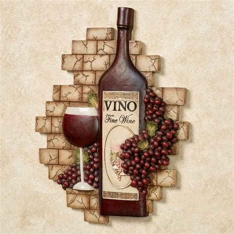 Vino Italiano Wine and Grapes Wall Plaque