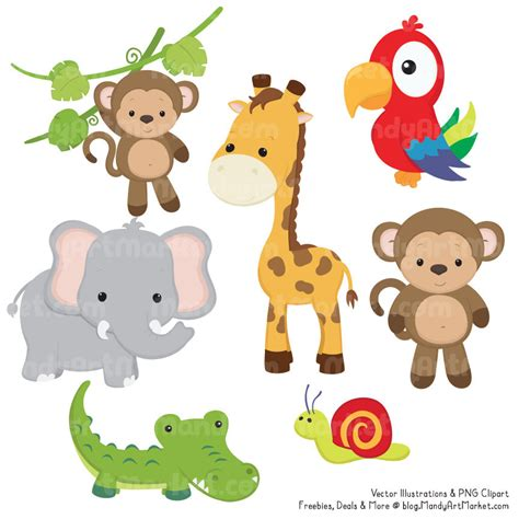 safari animals clip safari clipart wildlife pencil and in color safari
