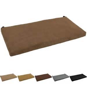 Bench Cushion Indoor Blazing Needles 42 Inch Microsuede Indoor Bench Cushion Ebay
