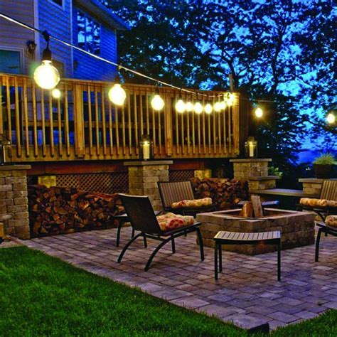 solar powered patio string lights new solar powered retro bulb string lights for garden