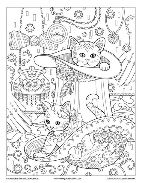 creative cats coloring pages top hat creative kittens coloring book by marjorie