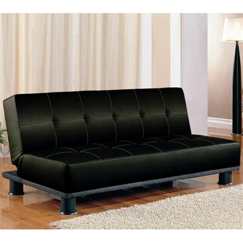 armless leather sofa bed coaster black faux leather armless convertible sofa bed 300163