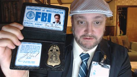 fbi id card template unboxing and review of x files fox mulder badge and fbi id