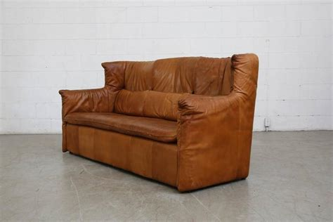 natural leather couch gerard van den berrg natural leather sofa at 1stdibs