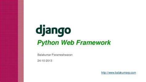 django tutorial for beginners ppt django python mvc framework