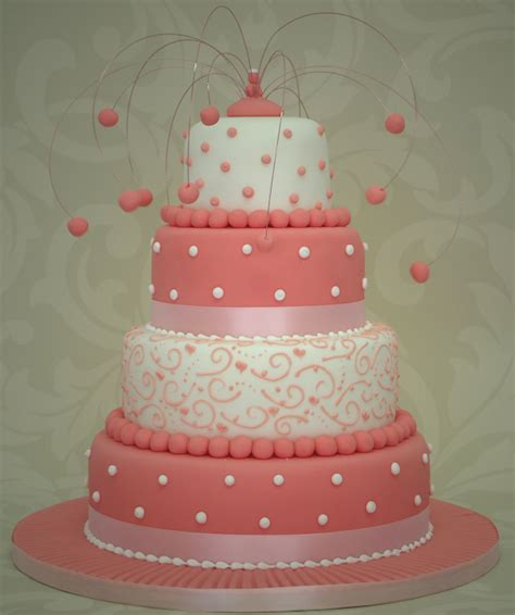 Pink Wedding Cake by Pink Wedding Cakes Bitsy