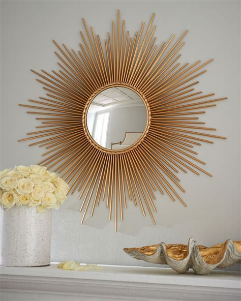 Global Views Thin Sunray Mirror   Neiman Marcus