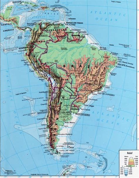 topographical map of south america many maps december 2010