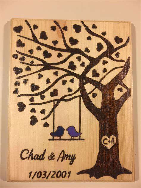 Wedding Date Sign, Wedding Tree Sign, Name Sign, Wood