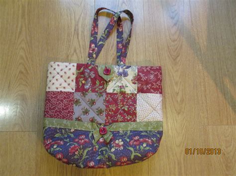 Patchwork Tote Bag Pattern - patchwork bags baskets poppyposts