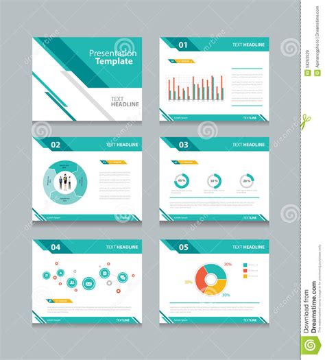 Business Presentation Template Set Powerpoint Template Concept Presentation Template