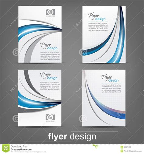 flyer design editor set of business flyer template corporate banner or cover
