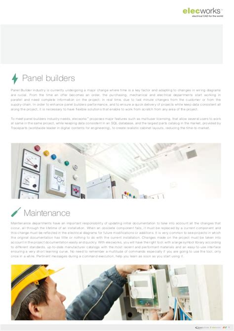 electrical design software for panel builders elecworks