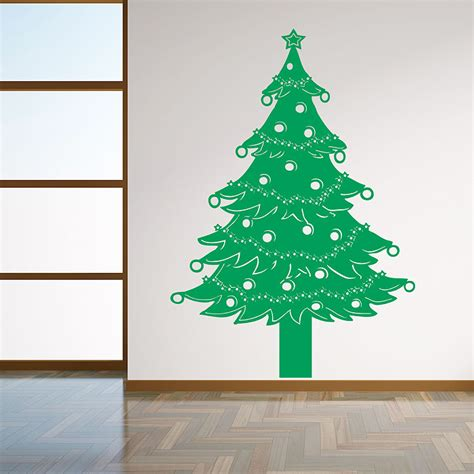 christmas tree lights vinyl wall art decal