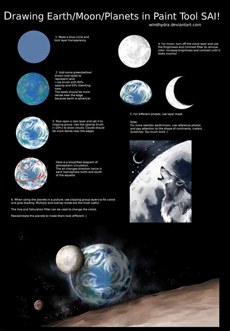 how to make doodle using paint tool sai drawing earth moon planet in paint tool sai by windhydra