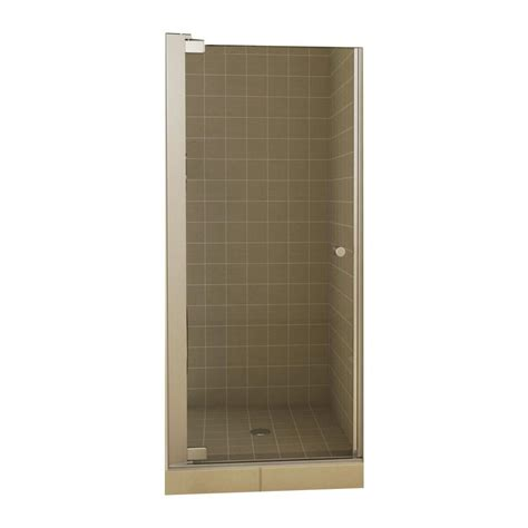 Inswing Shower Door Maax Insight 33 1 2 In X 67 In Swing Open Semi Framed Pivot Shower Door In Chrome With 6 Mm