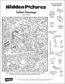 quot safari onstage quot a printable hidden pictures puzzle