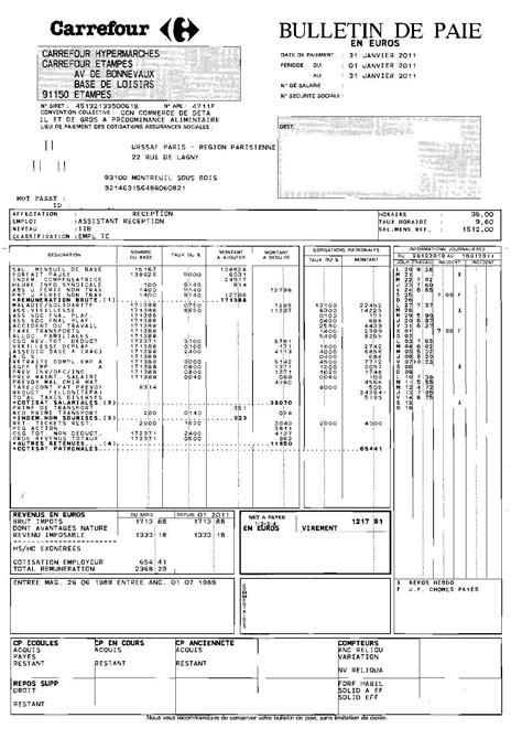 bulletin de paie fonctionnaire territorial calam 233 o carrefour bulletin de salaire d un employ 233