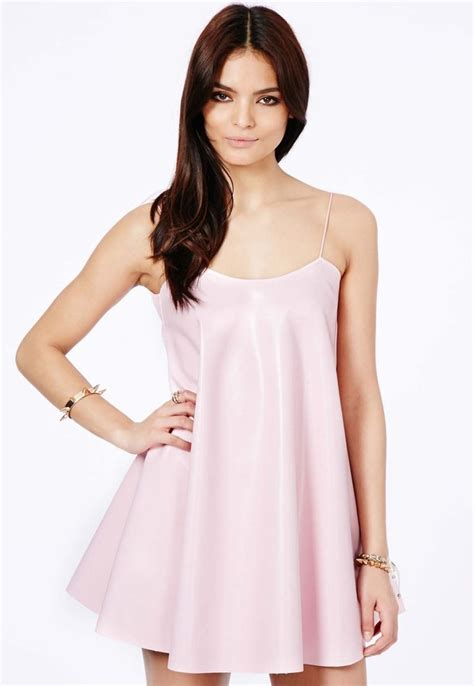 Ori Laurent Dress Atasan Coklat Pink missguided nimesa faux leather strappy swing dress in baby pink where to buy how to wear