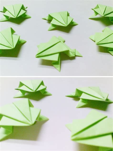 How To Make Origami Frogs - simple origami frogs http www ikuzoorigami