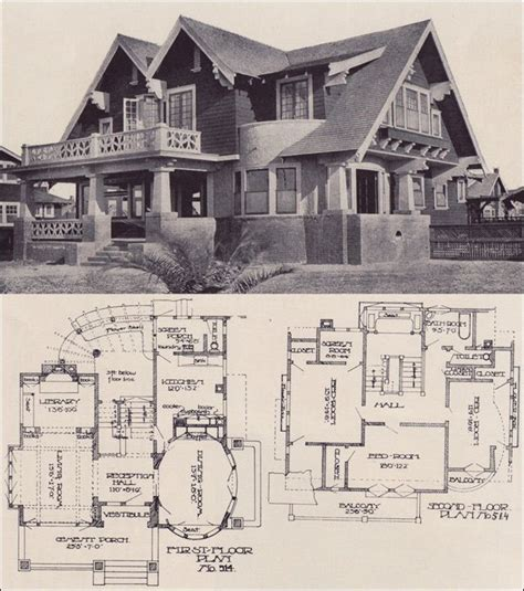 mr blandings house floor plans 1912 bungalow oval dining room so cool each bedroom has its own balcony homes