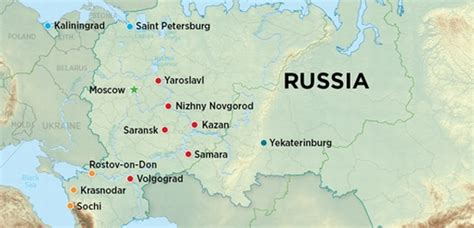 world cup 2018 host cities map the stadiums of world cup 2018 183 russia travel