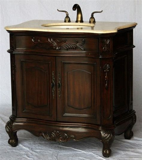 34 inch bathroom vanity traditional style walnut color 34