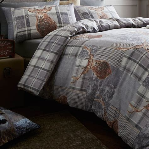Catherine Set catherine lansfield heritage stag cotton rich duvet cover