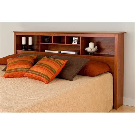 Prepac Headboard by Prepac Cherry King Bookcase Headboard