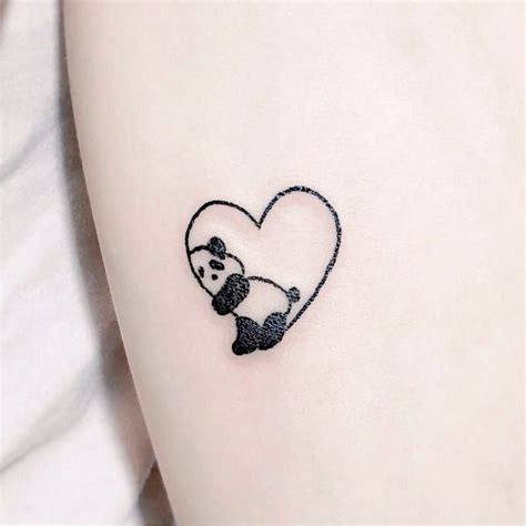 panda tattoo i would get a grizzly or teddy instead of a panda