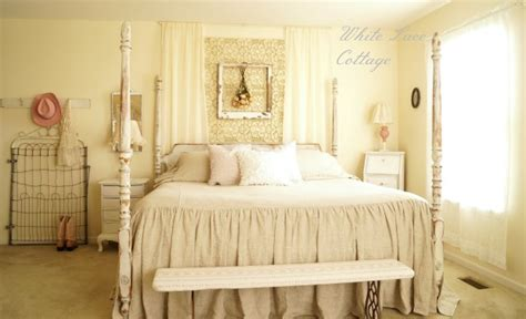 shabby chic master bedroom transforming a master bedroom white lace cottage