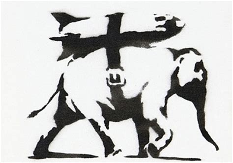 heavy weaponry stencil by banksy guy hepner