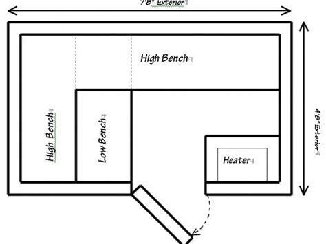 sauna floor plan prefab sauna floor plans